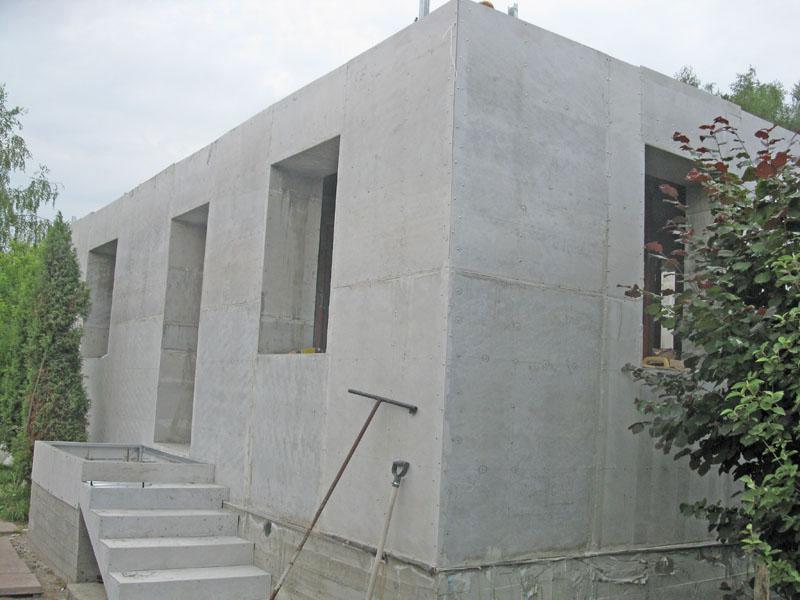 Дом из бетонных панелей своими руками