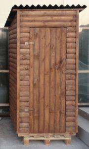 дачный туалет из блок хаус