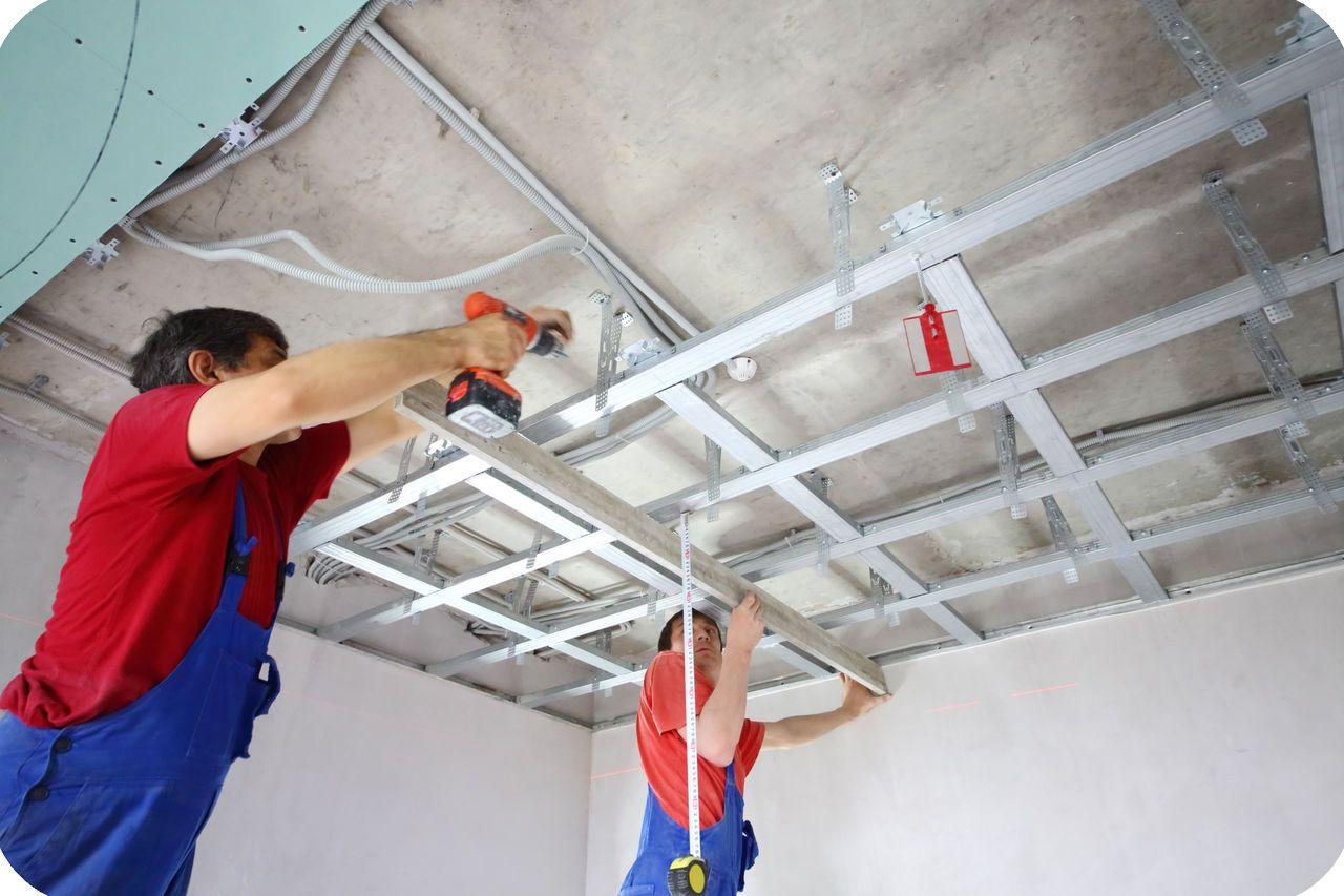 Потолок из гипсокартона ремонт своими руками 149